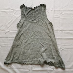 Akemi + Kin | Gray Linen Blend Swing Tank Top